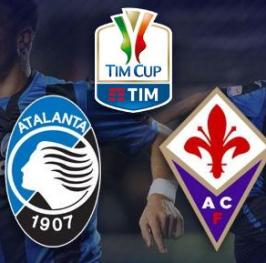 Partido de F?tbol Coppa Italia Atalanta vs Fiorentina